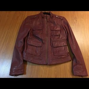 Lucky Brand Oxblood Leather Jacket